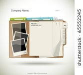 website design template  folder ... | Shutterstock .eps vector #65552245