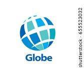 vector logo globe | Shutterstock .eps vector #655523032