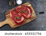 steak   dry aged wagyu... | Shutterstock . vector #655531756