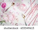 summer refreshing desserts....   Shutterstock . vector #655549615