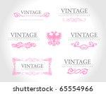 baroque vintage royal design... | Shutterstock .eps vector #65554966