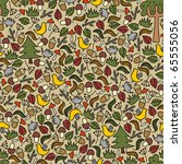 seamless pattern with autumn... | Shutterstock .eps vector #65555056