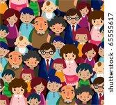 seamless family pattern   Shutterstock .eps vector #65555617