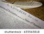 declaration of independence... | Shutterstock . vector #655565818