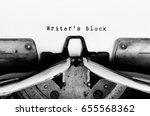 writer's block text typed on... | Shutterstock . vector #655568362