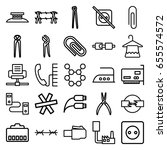 wire icons set. set of 25 wire... | Shutterstock .eps vector #655574572
