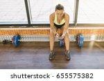 woman texting with smartphones | Shutterstock . vector #655575382