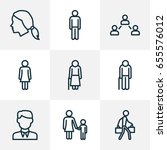 people outline icons set.... | Shutterstock .eps vector #655576012
