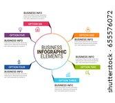 business infographic design | Shutterstock .eps vector #655576072