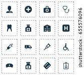 drug icons set. collection of... | Shutterstock .eps vector #655576096