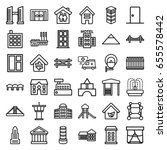 architecture icons set. set of... | Shutterstock .eps vector #655578442