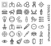 science icons set. set of 36... | Shutterstock .eps vector #655578502
