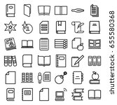 book icons set. set of 36 book... | Shutterstock .eps vector #655580368