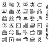 bank icons set. set of 36 bank... | Shutterstock .eps vector #655580482