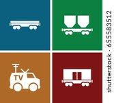 wagon icons set. set of 4 wagon ... | Shutterstock .eps vector #655583512