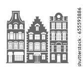 set of 3 shape amsterdam ... | Shutterstock .eps vector #655593886