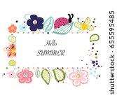 abstract decorative summer...   Shutterstock .eps vector #655595485