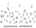seamless banner of tiny... | Shutterstock .eps vector #655605652