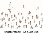 seamless banner of tiny... | Shutterstock .eps vector #655605655