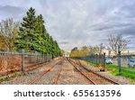 railway in the old port of...   Shutterstock . vector #655613596