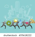 solutions delivery | Shutterstock .eps vector #655618222