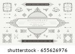 set of vintage decorations... | Shutterstock .eps vector #655626976