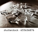 ampoules on a silver background | Shutterstock . vector #655636876