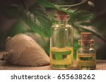 essential oil made from mint | Shutterstock . vector #655638262