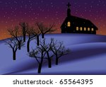 christmas night background | Shutterstock .eps vector #65564395