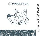 werewolf doodle | Shutterstock .eps vector #655644532