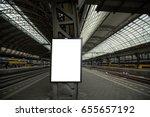 train billboard for banner to... | Shutterstock . vector #655657192