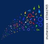 source stream of confetti stars ... | Shutterstock .eps vector #655661905