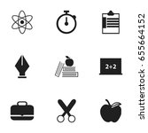 set of 9 editable education... | Shutterstock .eps vector #655664152