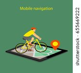 flat modern illustration mobile ... | Shutterstock . vector #655669222