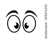 cartoon eyes icon | Shutterstock .eps vector #655671352