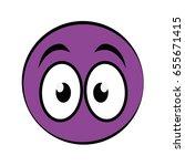 cartoon face icon | Shutterstock .eps vector #655671415
