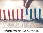 domino block | Shutterstock . vector #655676746
