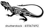 lizard vector tattoo | Shutterstock .eps vector #65567692