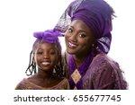 closeup beautiful african model ... | Shutterstock . vector #655677745