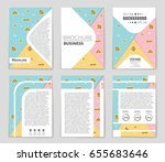 abstract vector layout... | Shutterstock .eps vector #655683646