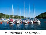 Sailing Ships In The Harbor At...
