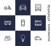 set of 9 traffic outline icons... | Shutterstock .eps vector #655696936