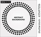 black abstract halftone logo... | Shutterstock .eps vector #655697056