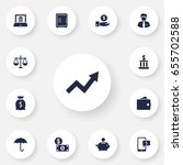 set of 13 budget icons set... | Shutterstock .eps vector #655702588
