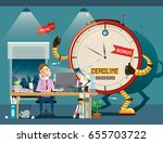 businessman hard working with...   Shutterstock .eps vector #655703722