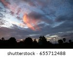 colorful dramatic sky with... | Shutterstock . vector #655712488