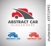 abstract car logo template | Shutterstock .eps vector #655715992