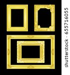 the antique gold frame on the... | Shutterstock . vector #655716055