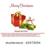 christmas greeting card with... | Shutterstock .eps vector #65572054