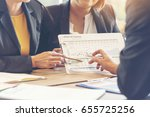 insurance meeting with client.... | Shutterstock . vector #655725256
